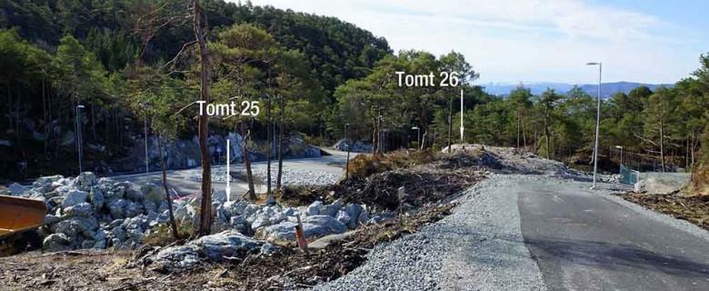 Tomt 26 – Sett fra veien