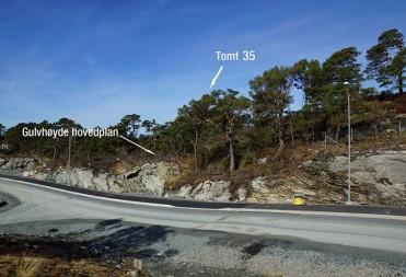 Tomt 35 – Gulvhøyde hovedplan