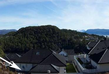 Tomt 37 – Panoramabilde tatt ovenfra