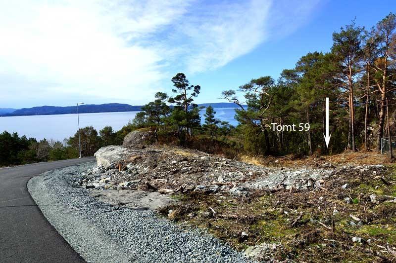 Tomt 59 – Lun og fritt beliggende ved blindvei