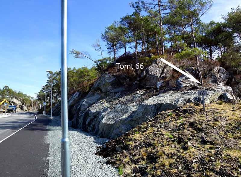 Tomt 66 – sett fra veien