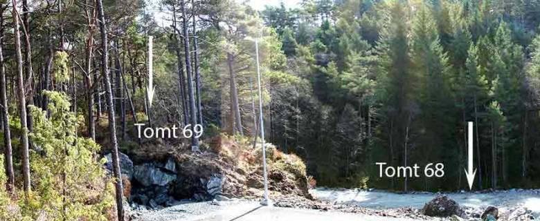 Tomt 67 – Panoramabilde tatt fra tomten