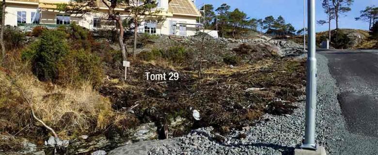Tomt 29 – Sett nede fra blindvei