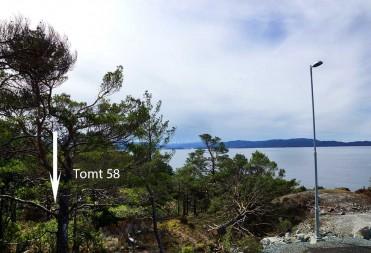 Tomt 58 – Med vakker sjøutsikt