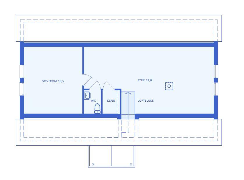 Forslag planløsning Loft
