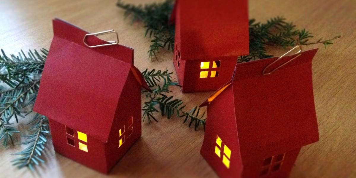 Lag et Os Bygg og Eigedom papirhus til jul =)