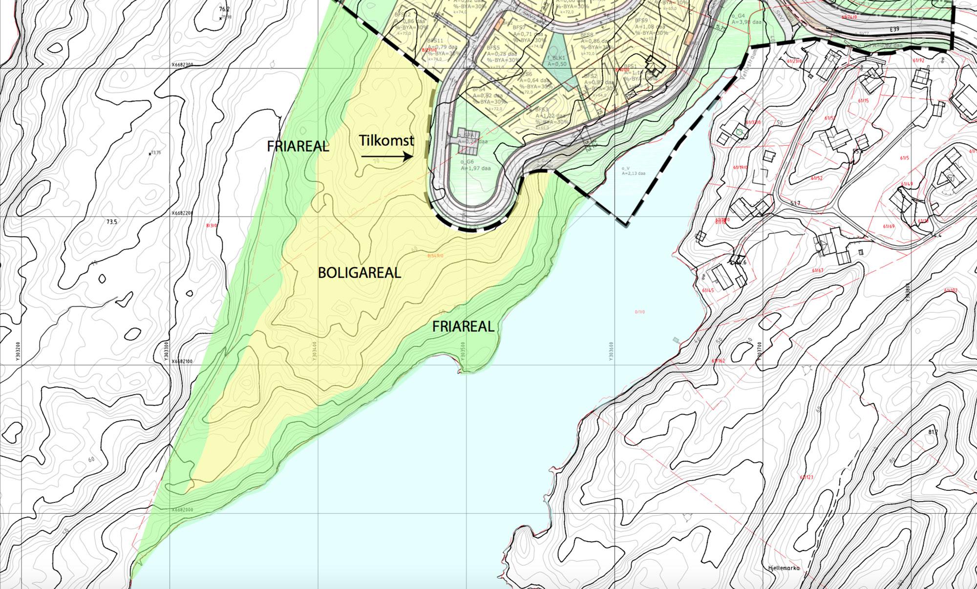 Les vårt planforslag for nytt boligområde på Gåsakilen